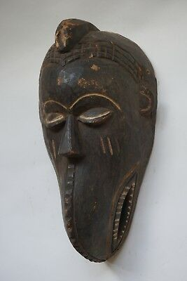 Unusual Vintage Tribal Wooden Carved Toma/Loma Figural Mask
