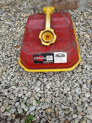 Vintage 'Explosion Proof ' Red Fuel Can -Metal - Paddy Hopkirk - 1960's / 1970's