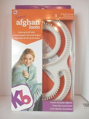 """KB Super Afghan Loom-NIB-Up To 60"""""""" Wide-3 Projects-Crafts-Instructions"""