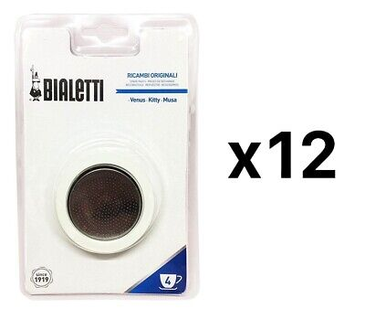 Bialetti Replacement Gasket Filter For 4 Cup Espresso Makers New (12-Pack)