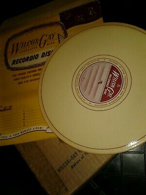 WILCOX GAY RECORDIO NOS BLANK DISC FOR RECORD CUTTER LATHE + AUDIOPOINTS stylus'