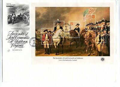 Set Of 4 American Bicentennial Souvenir Sheet First Day Covers Scott #1686-1689