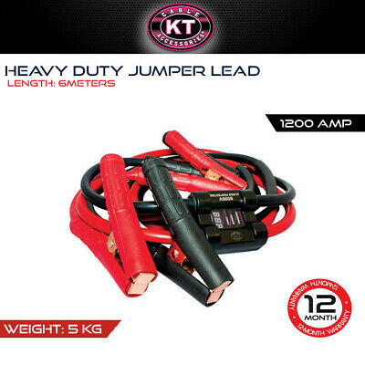 Kt Cables 1200 Amp Heavy Duty Jumper Lead - 6M