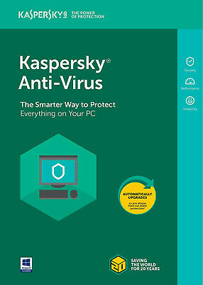 Kaspersky Antivirus security 2019 2020 1 PC Device 1 year Global Key