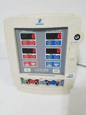 Ziimmer ATS 2000 Automatic Tourniquet System 60-2000-101, powers up.