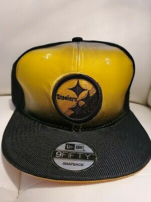 ff6587784f7c50 PITTSBURGH STEELERS NFL Elements Logo New Era Snapback Hat 9Fifty ...