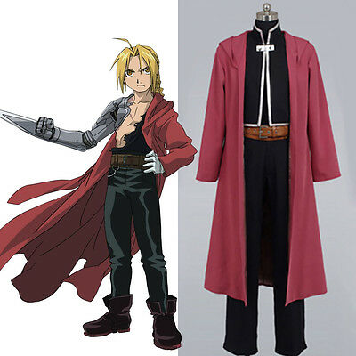 Fullmetal Alchemist Edward Elric Costume Deluxe Cosplay Party Halloween FULL SET