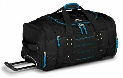 NEW High Sierra Ultimate Access  66Cm Wheeled Duffel Black/Blue - in BLACK BLUE