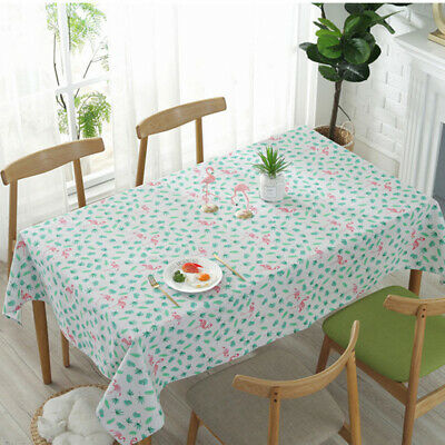 Maple Leaf Animal Printed Tablecloth Cotton Waterproof Rectangular Table cover