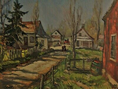 JOSEPH GIUNTA (1911-2001)  Listed Canadian, LARGE Vintage Original Oil