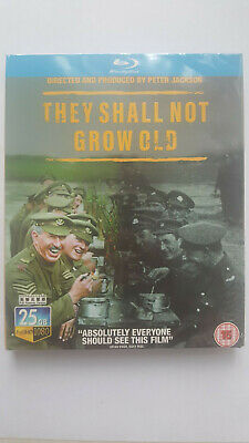 """""""THEY SHALL NOT GROW OLD"""" 2018 [Blu-ray] BD Peter Jackson World War Documentary"""