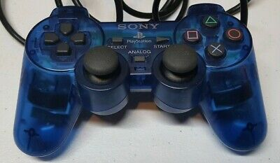 Sony OEM PS2 Ocean Blue Controller Dual Shock Wired Playstation 2