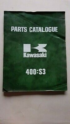 KAWASAKI 400 S3 1973 catalogo ricambi originale spare parts catalogue