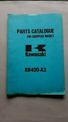KAWASAKI KH 400 1975 catalogo ricambi originale spare parts catalogue
