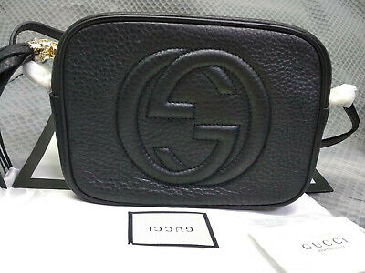 d5e6e2f81cb0 Pre-owned GUCCI Soho Women Crossbody bag Shoulder bag leather black sales
