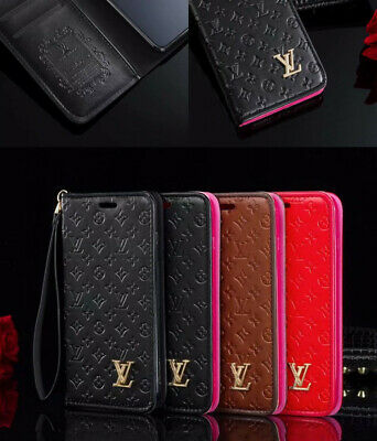 For iphone X XR XS XSMax 7 8 Plus Leather Wallet Flip Case Cover Embossing Skins