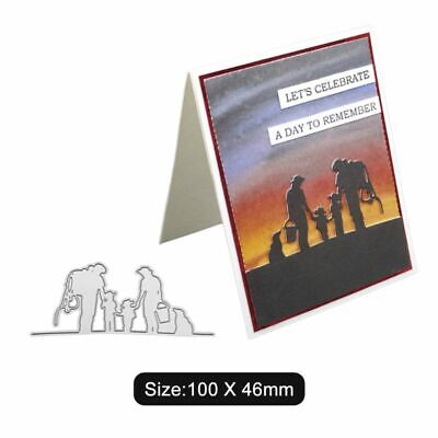 Family Cutting Dies Stencil DIY Scrapbooking Embossing Album Paper Card Decor