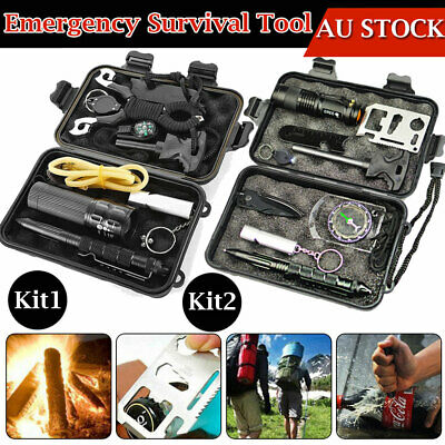 Emergency Survival Equipment Kit Outdoor Sports Tactical Hiking Camping Tool SOS