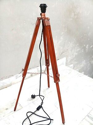Marine Copper Antique Tripod Lamp Stand Marine Decorative  Item.