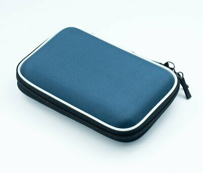 """Blue 2.5"""" HDD Bag Hardcase for Portable Hard Disk Drive Case Twin Zipper Cover"""