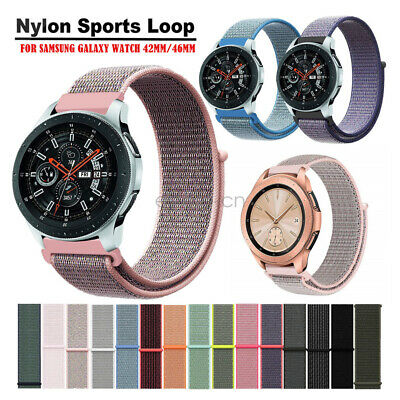 Woven Nylon Sport Loop Cinturino Watch Strap per Samsung Galaxy Watch 42mm 46mm