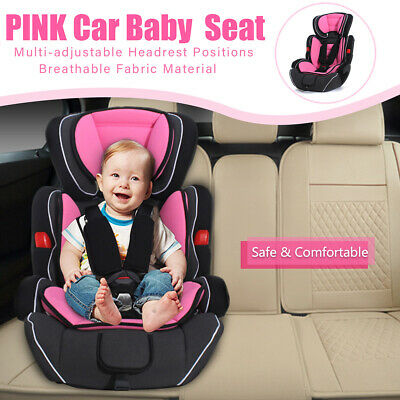 Pink Baby Toddler Infant Kid Children Child Car Safety Chair Seat Booster 9-36kg