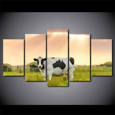 Art HD Print Home Décor Cow On Field Modern Paintings Wall Poster Picture