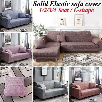 1/2/3/4 Seater Sofa Covers Slipcover Non-slip Elastic Stretch Couch Protector