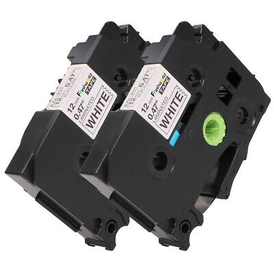 2PK TZe-231 Compatible for Brother P-Touch Black on White Label Tape PT-D210