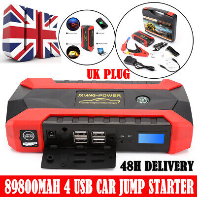89800mAh Car Jump Starter Battery Charger Pack Booster Power Bank LED Display