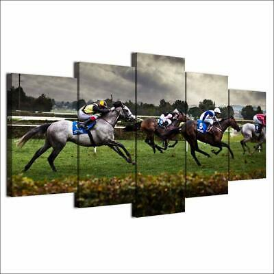 Art HD Print Home Décor Horse Racing Modern Paintings Wall Poster Picture