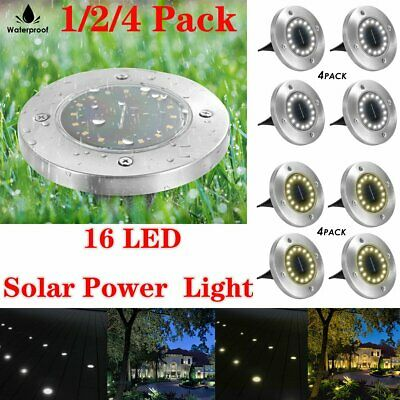 Solar Power Ground Light Floor Deck Patio 16 LED Outdoor Garden Lawn Path Lamp