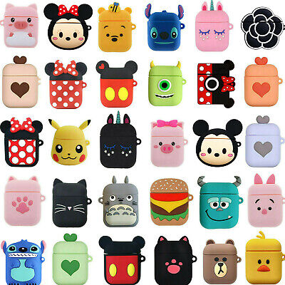 Cute Cartoon Earphone Protective Silicone Cover For Apple Airpods Charging Case