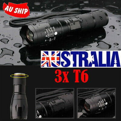 15000LM 3x T6 LED Strong Light  Zoomable Flashlight Waterproof Torch Light Lamp
