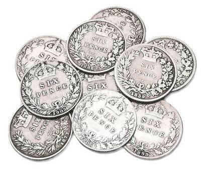 Mixed Dated Sixpence Coins - Circulated and VERY CLEAN ONES - BRITISH COIN HUNT