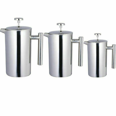 French Press Stainless Steel Cafetiere Coffee Tea Filter Maker Plunger Pitcher
