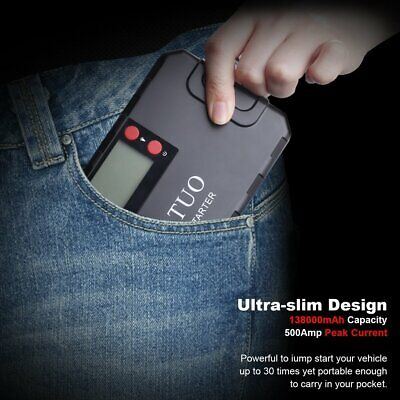 CATUO 13600mAh Auto Car Jump Starter Battery Booster with USB Power Bank FT