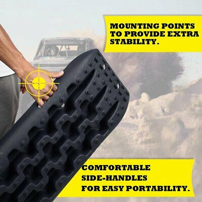 X-BULL NEW Sand Track 2pc Recovery Tracks 10T 4x4 Vehicle Sand/Snow/Mud Trax FT