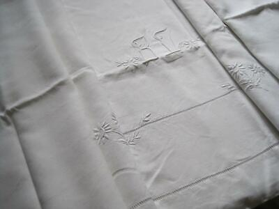 Floaty Vintage French Pure Linen Sheet, Gorgeous Bedding Fabric Or Curtain