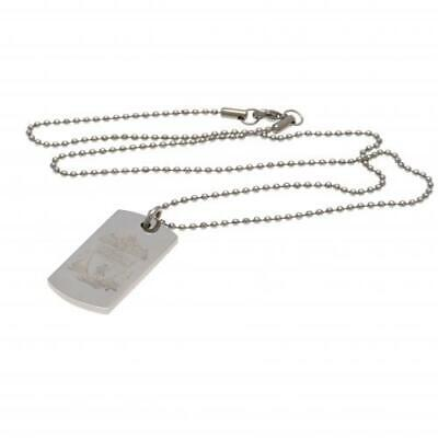 Official PERSONALISED Derby County Crest Dog Tag Pendant and Chain