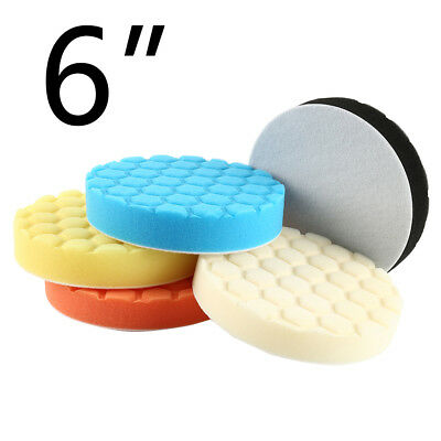 "5pcs 6 ""6 pouces 150mm Hex Type Logique Polissage Pads DA Rotary Polisher LEE"