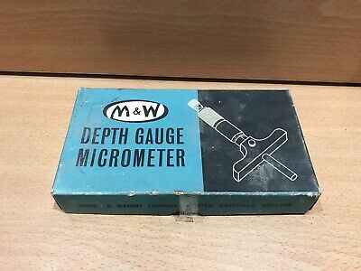 Moore And Wright Depth Gauge Micrometer Metric 0-25mm Boxed And In Case Complete