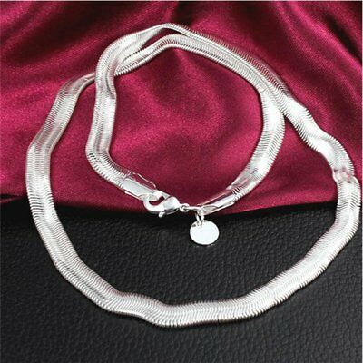 Fashion Silver Solid 6MM Snake Necklace Chain 16-30 Inch Fashion Men Women Gift