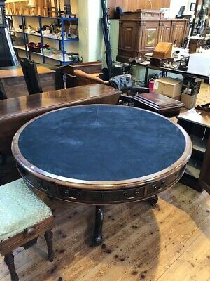 Mahogany Round Drum Table