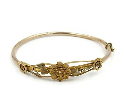 Antique Victorian 9ct Gold Bangle Bracelet