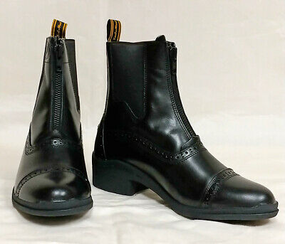 c9e95d5ef2c TREDSTEP OF IRELAND Paddock Boot Leather Thoroughbred Rear Zip SALE ...