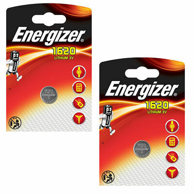 2 x New Energizer CR1620 Lithium 3V Coin Cell Battery DL1620 KCR1620 BR1620