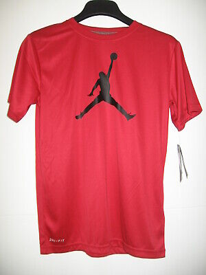 a931bbf7 NIKE AIR JORDAN Iconic Jumpman Speckled Retro Red Shirt 908017 687 ...