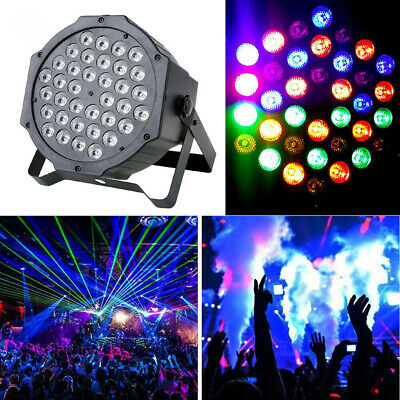 36W 36LED RGB Stage Light DMX512 Flat Par Lamp Club For DJ Disco Party Lighting