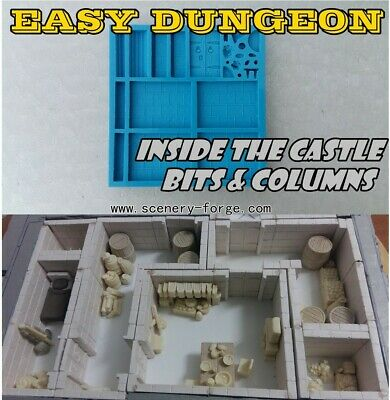 Warhammer Easy Dungeon AOS 40K Scenery silicon mold(it's not a hirst arts system